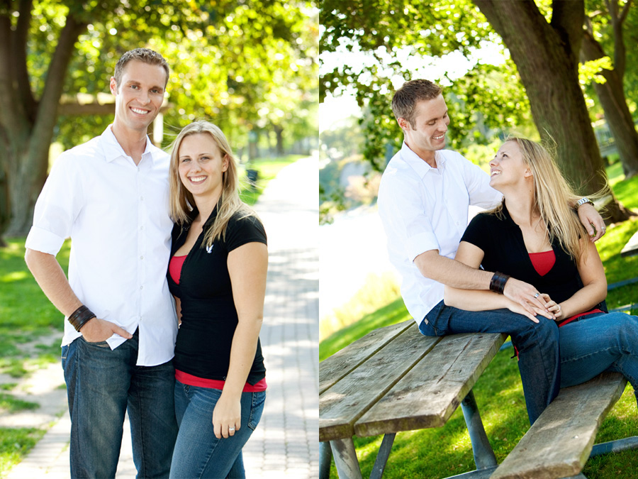 Engagement photos at the Oshawa waterfront