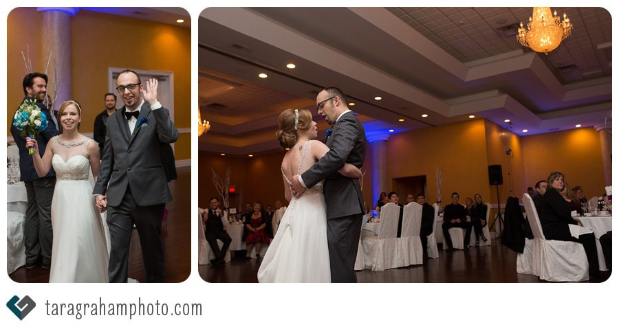 Bride and Groom entrance and first Dance at Tosca Banquet Hall