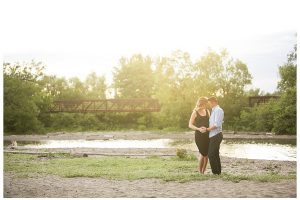 Rotary Park maternity session bridge scenic