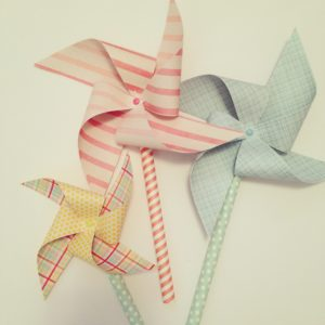 pastel coloured pinwheels