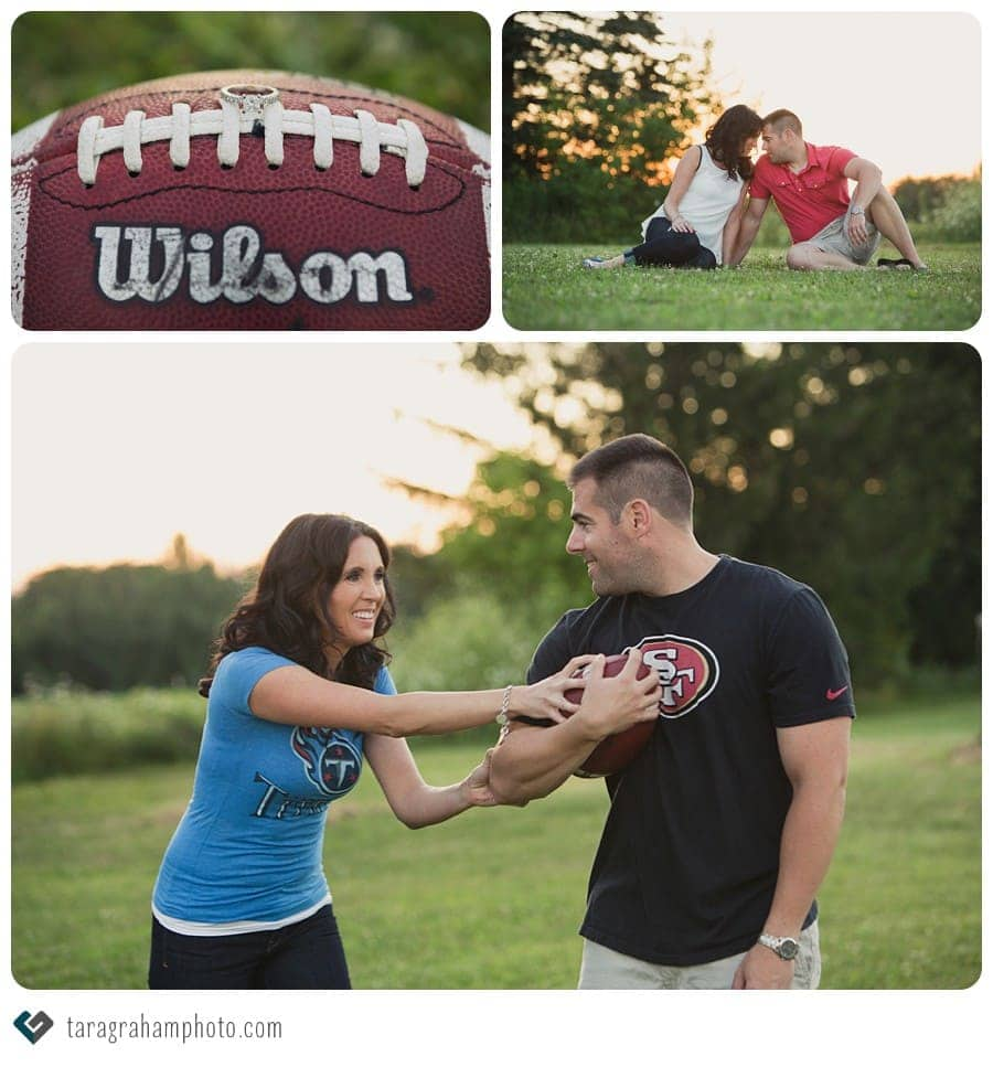 football engagement photos