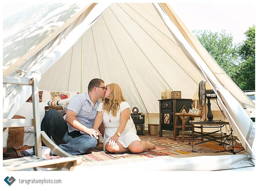 Sagewood Farm tent