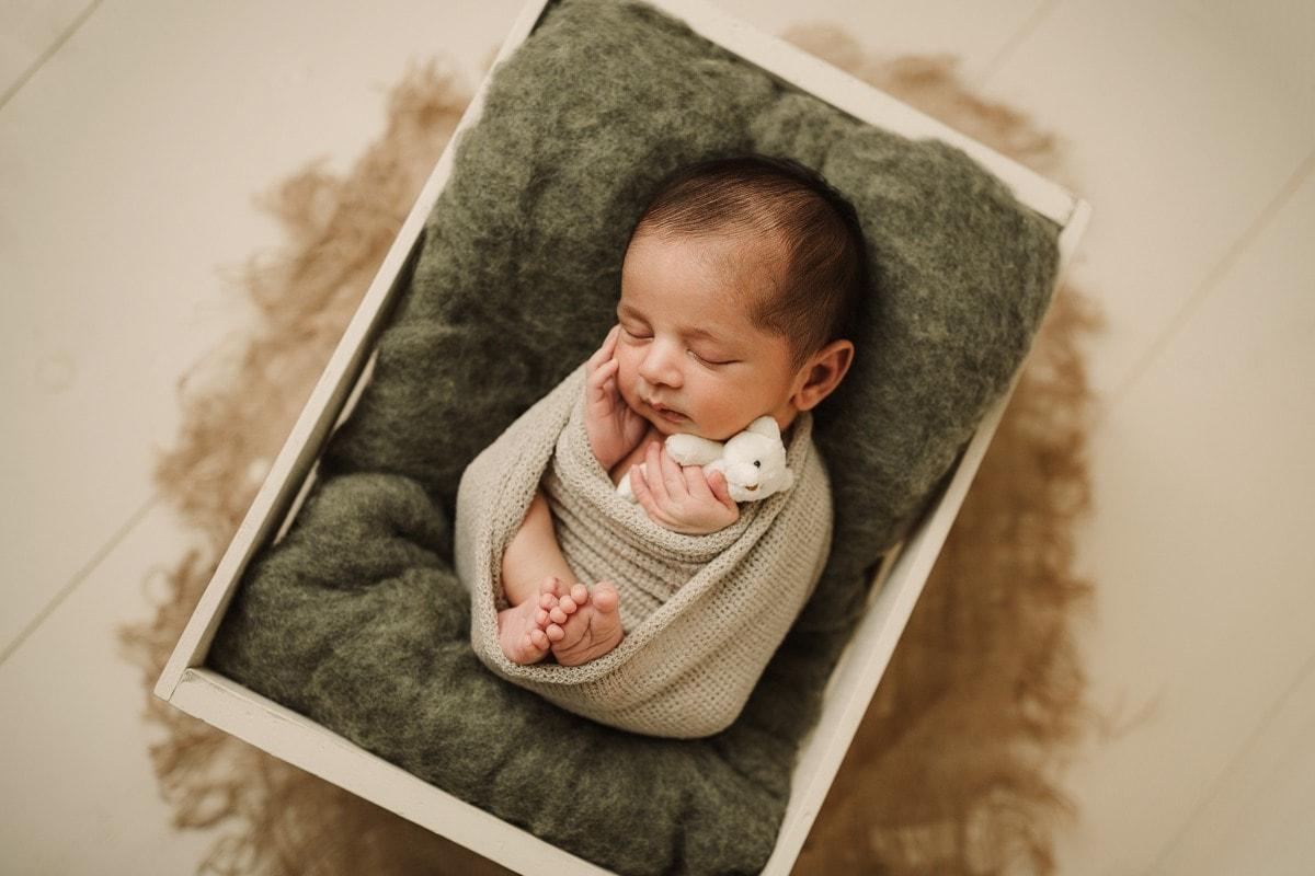 newborn with teddy bear oshawa