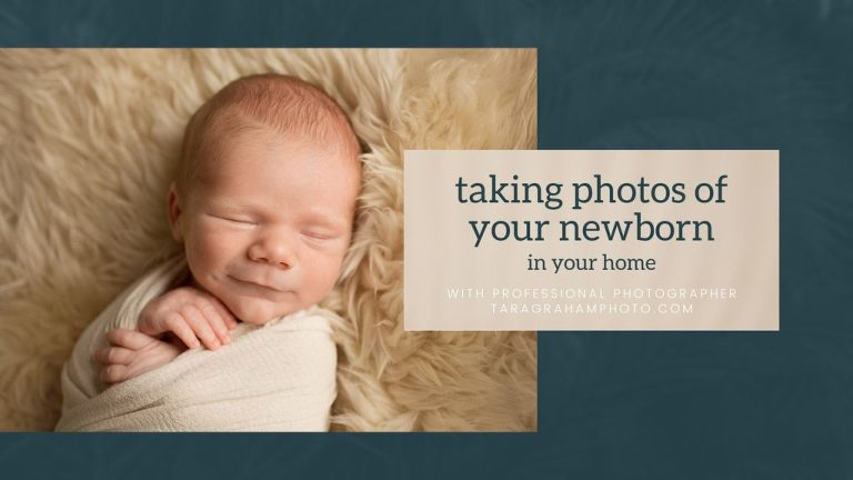 taking photos of your newborn in your home